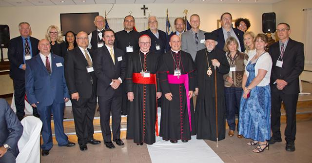Historical Ecumenical dinner and joined declaration to support the protection of Christians and other minorities in the Middle East