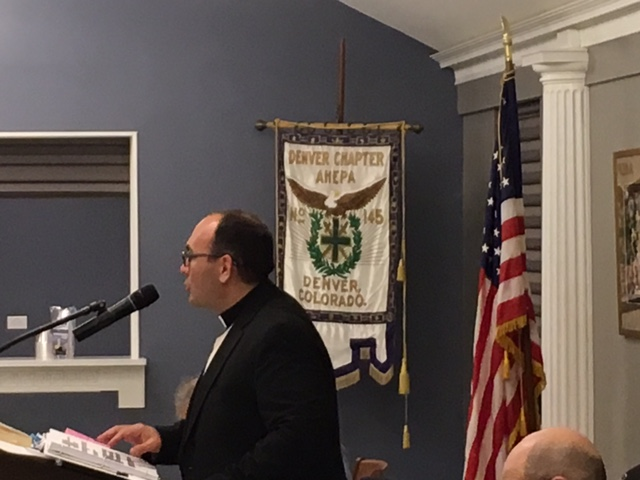 Fr Andre Speaking at the Ahepa-American Hellenic Educational Progressive Assotiation in Denver